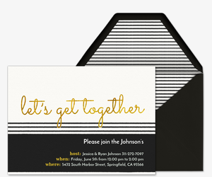 Black and Gold Invite Invitation