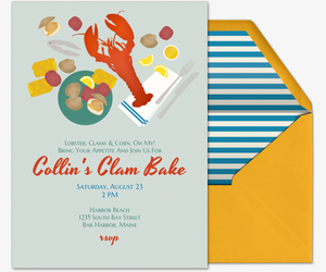 Clam Bake Invitation