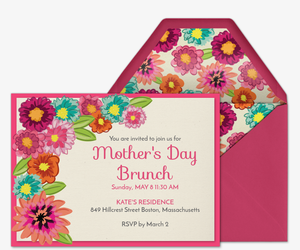 Floral Pattern Mom Invitation