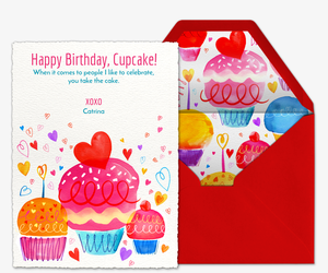 Cupcake Wishes Invitation