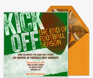 Football free online invitations