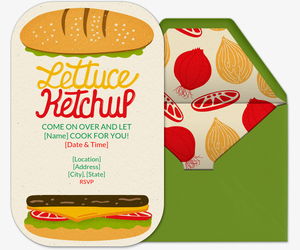 Lettuce Ketchup Invitation