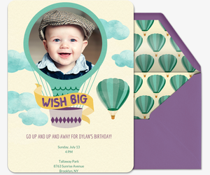 Babys First Birthday Invitation Party Ideas Evite - One year birthday invitation template