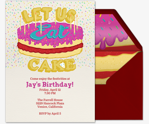 Eat Cake Invitation