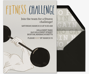 Fitness Challenge Flex Invitation