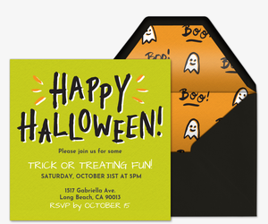 Happy Halloween Invitation