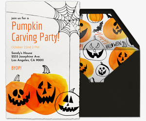 pumpkins invitation - Kids Halloween Party Invite