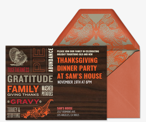 Thanksgiving Feast Invite Invitation