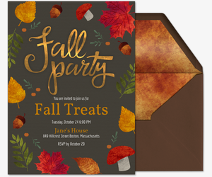Fall Party Invitation