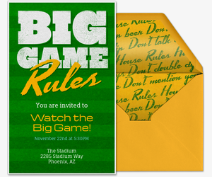 Rules of the Game Invitation