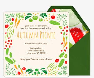 Homegrown Summer Picnic Invitation