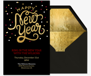 New Year S Eve Party Invitations Evite Com