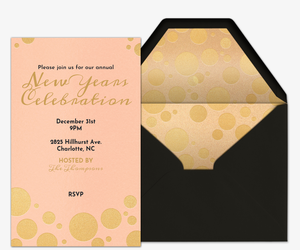 Peach Champagne Invitation