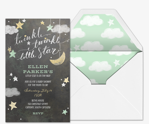Online baby shower invitations evite twinkle twinkle invitation filmwisefo Choice Image