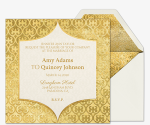 heart of gold wedding invitation - Wedding Invitation Online
