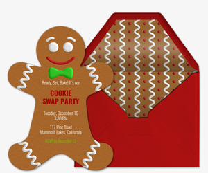 Ginger Bread Man Invitation