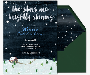Christmas white elephant ugly sweater party invitations evite starry sky invite invitation stopboris Image collections