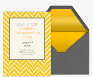 Herringbone Note 2 Invitation