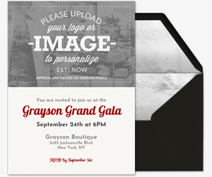 Upload Your Own Invitation  Business Invitations Templates