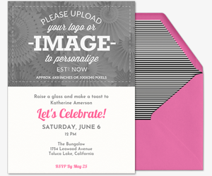 Upload Your Own Pink Invitation
