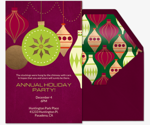 invitations for holiday party