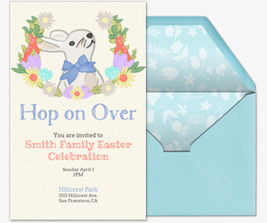 Hop on Over Invite Invitation