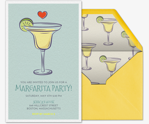 I Love Margaritas Invitation