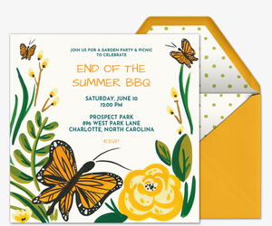 Butterfly Garden Invitation