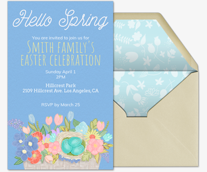 Hello Spring Invite Invitation