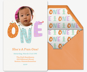 Babys first birthday invitation evite one invitation filmwisefo