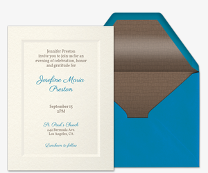 Simple Elegance Invitation  Invitation For Funeral