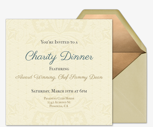 Queen Anne Invitation  Fundraiser Invitation Templates