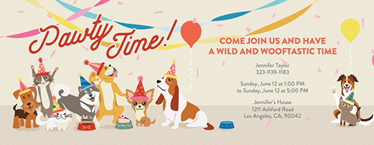 Animal Pawty Invitation