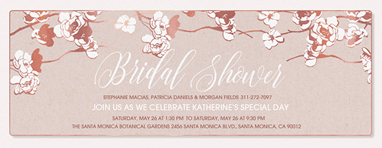 Apple Blooms Bridal Shower Invitation