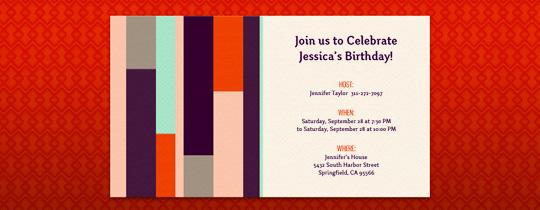 Autumn Blocks Invitation