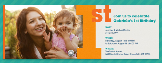 Babys First Birthday Invitation Party Ideas Evite – 1 Year Birthday Invitations