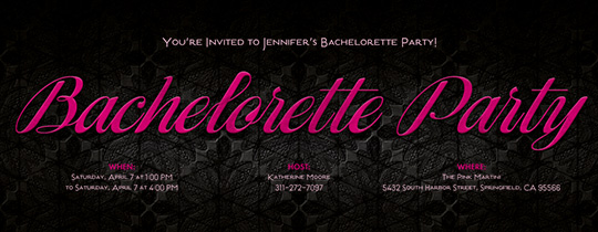 Online Bachelorette Invitations - Co-host w/Friend - Evite