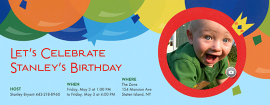 Upload Your Photo Free Online Invitations - Baby birthday invitation templates