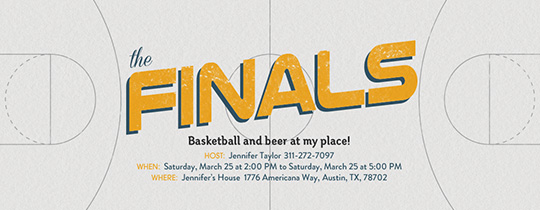 Basketball Finals Invitation