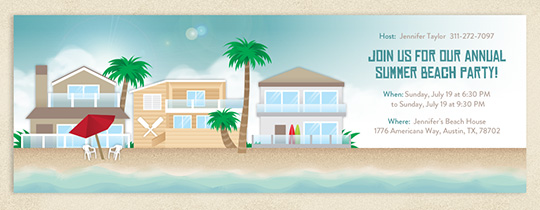 Beach Houses Invitation