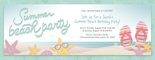 Beach Sandals Invitation