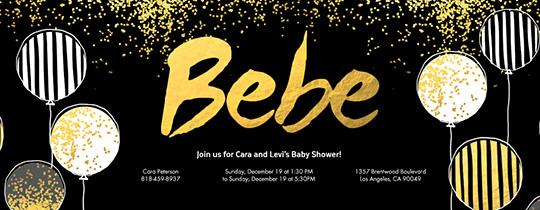 Bebe Invitation