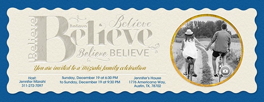 Believe Invitation