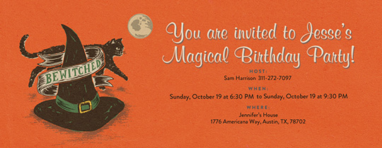 Bewitched Invitation
