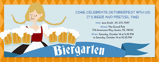 Biergarten Girl Invitation