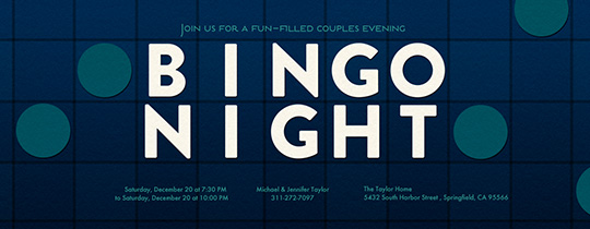 Bingo Night Invitation