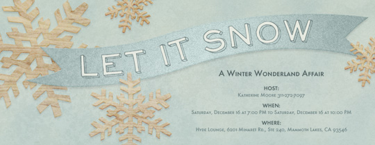 Birch Snowflakes Invitation