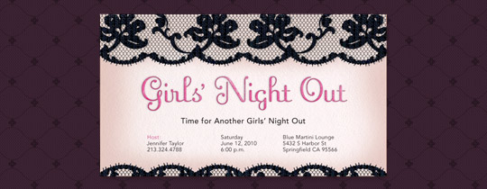 Bachelorette Party free online invitations – Passion Party Invitation Wording
