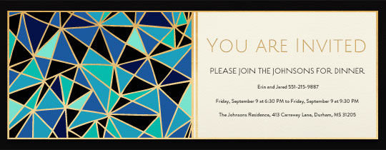 Blue Geo Invitation