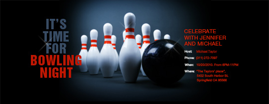 Send free online bowling party or league invitations Choose from